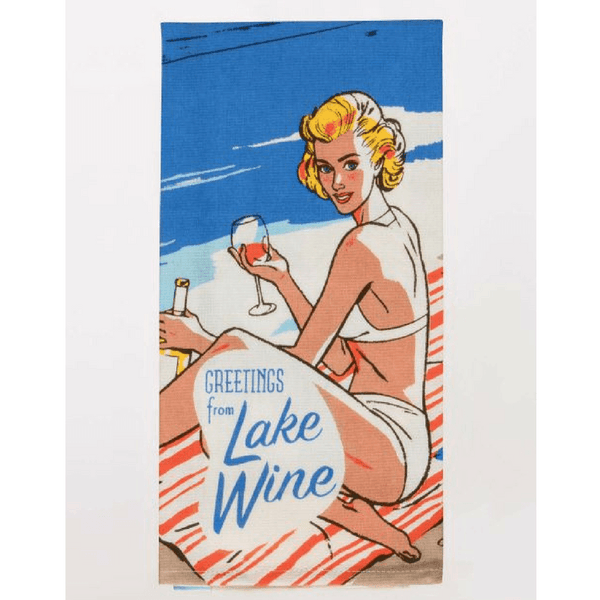 Blue Q | Tea Towel Lake Wine | Shut the Front Door