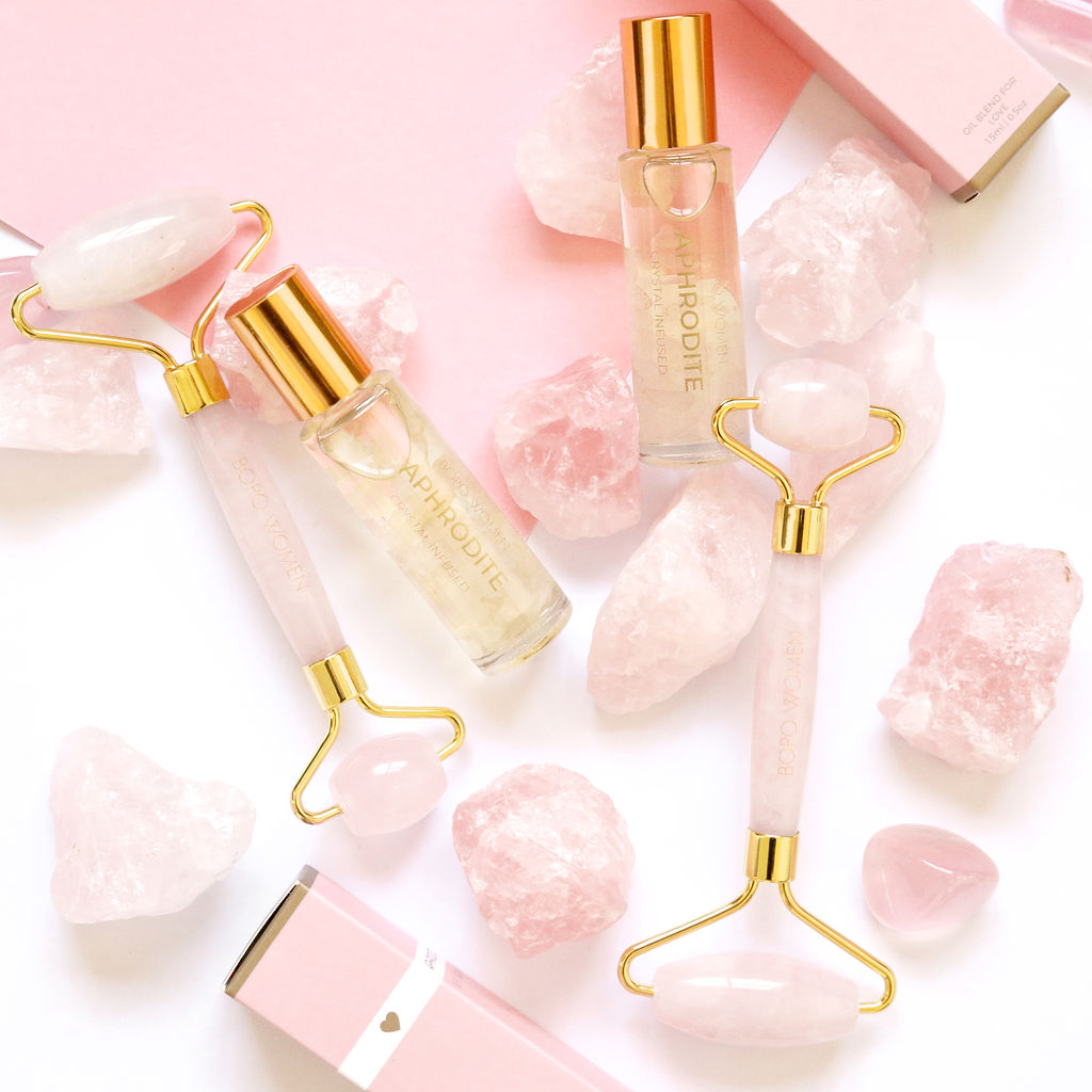 Bopo Women | Rose Quartz Facial Roller | Shut the Front Door