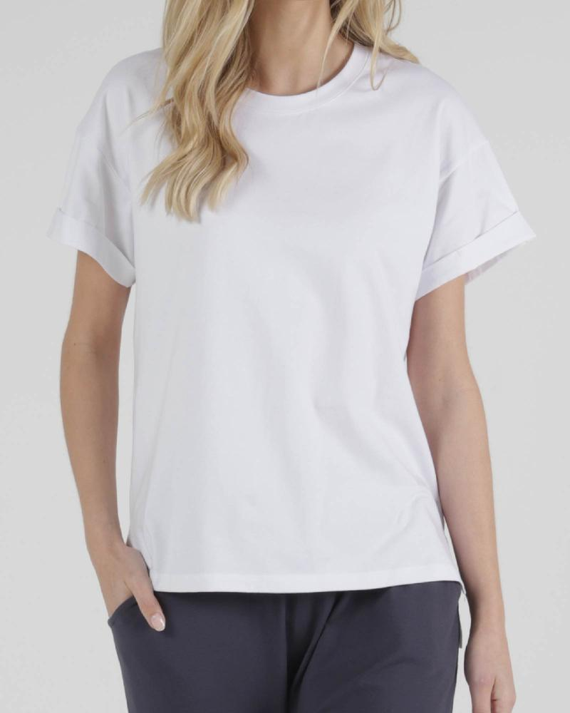Betty Basics | Boxy Tee - White | Shut the Front Door