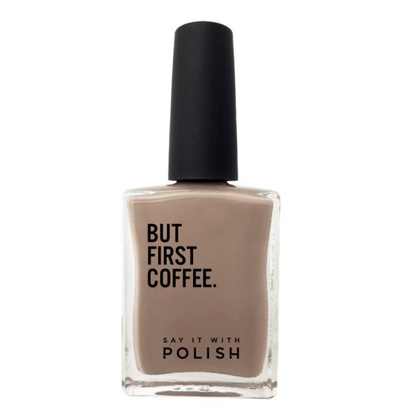 Say It With Polish | Nail Polish - But First Coffee - Latte | Shut the Front Door