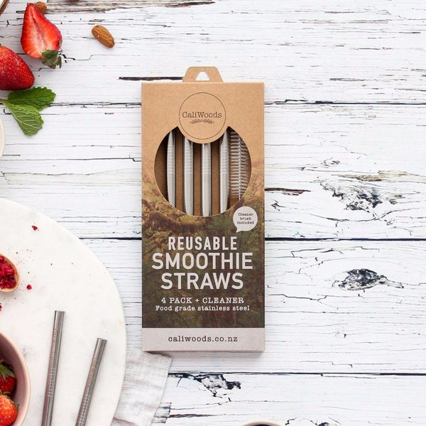 CaliWoods | Reusable Stainless Steel Smoothie Straws | Shut the Front Door