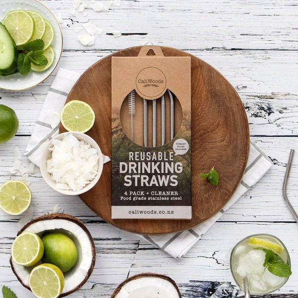 CaliWoods | Reusable Stainless Steel Drinking Straws | Shut the Front Door