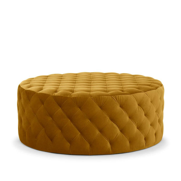 Me & My Trend | Chester Pin Tuck Ottoman Mustard Velvet *PREORDER* | Shut the Front Door