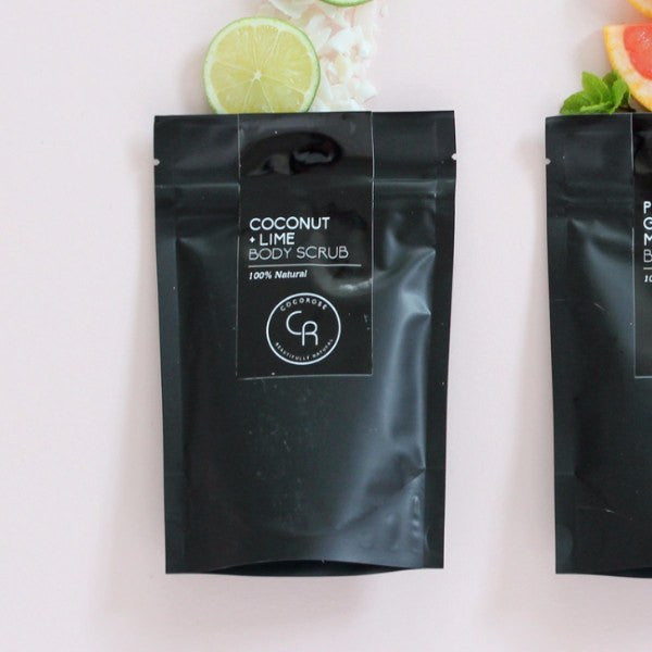 COCOROSE | Body Scrub Coconut Lime Pouch 150gm | Shut the Front Door