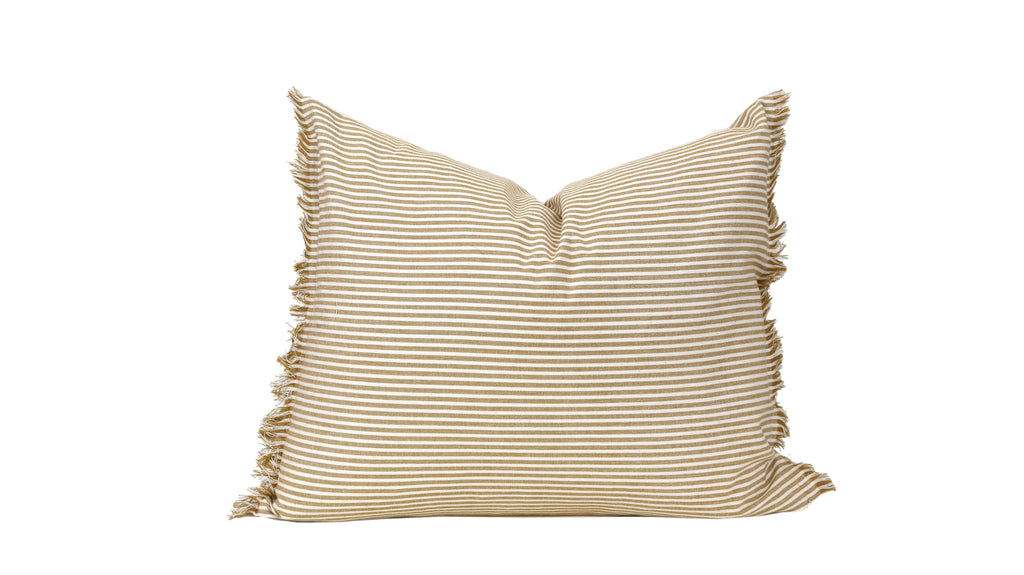 Raine & Humble | Abby Stripe Cushion - Mustard | Shut the Front Door