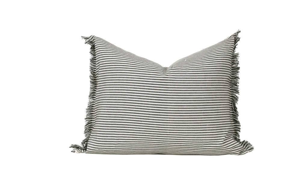 Raine & Humble | Abby Stripe Cushion - Olive | Shut the Front Door