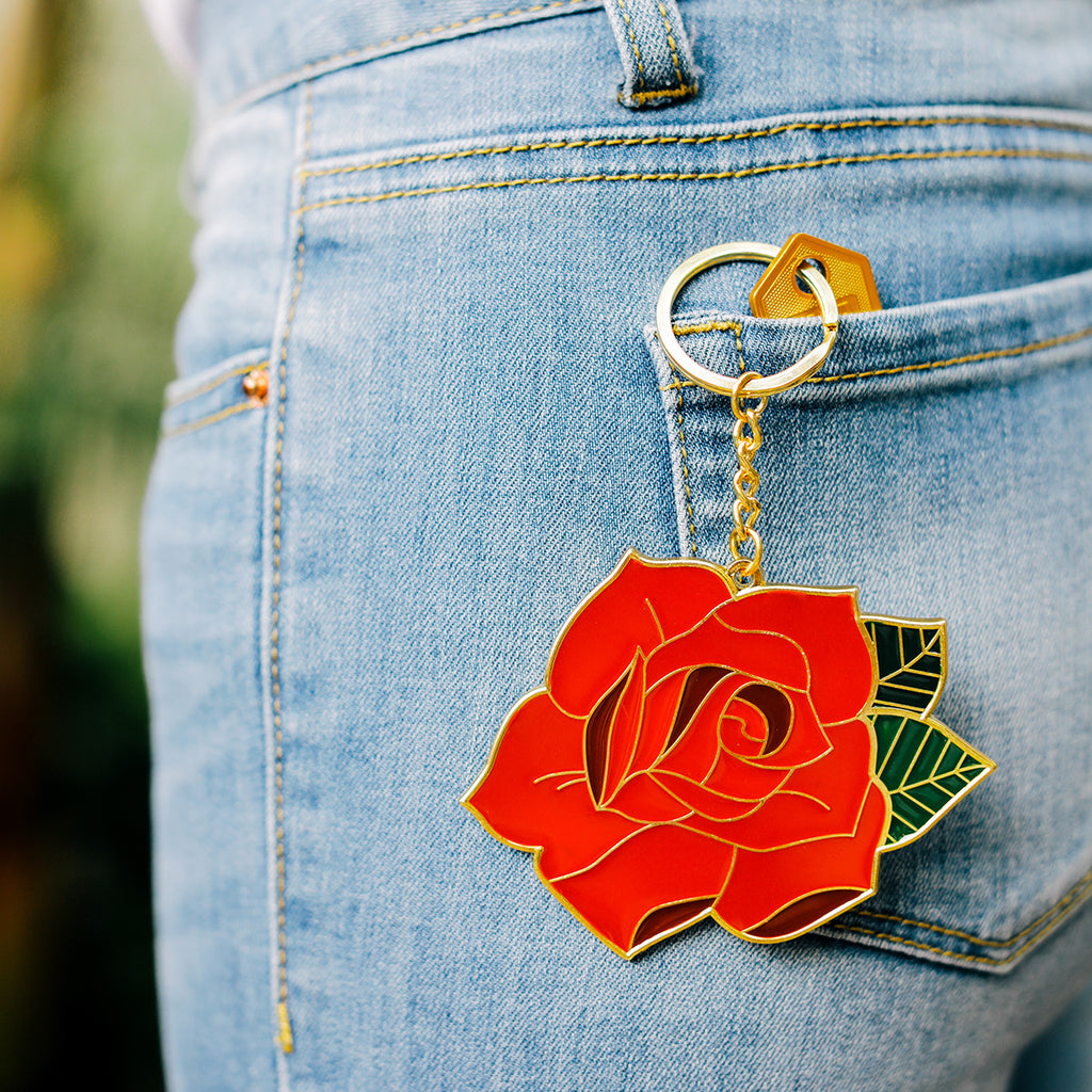Doiy | Oversized Keyring - Rose | Shut the Front Door
