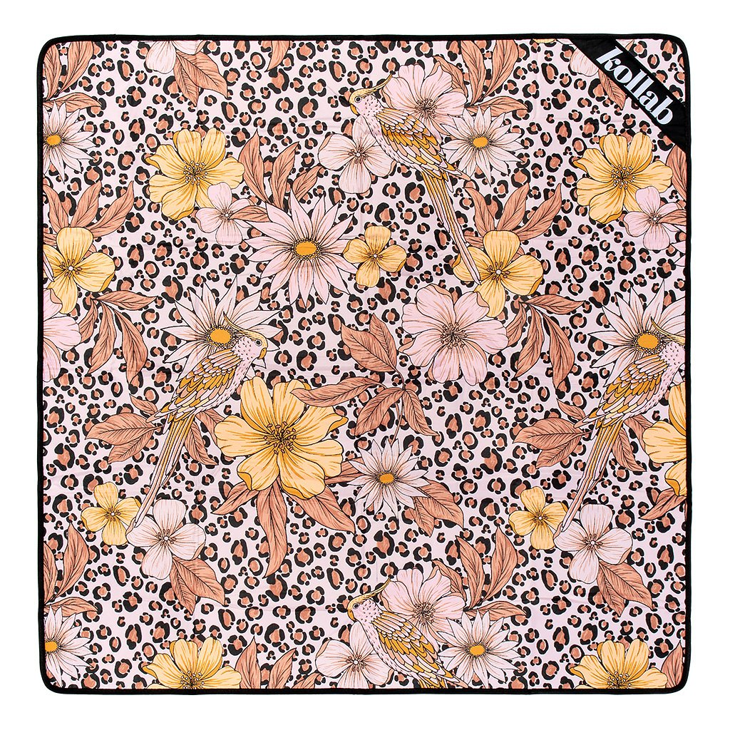 Kollab | Mini Picnic Mat - Leopard Floral | Shut the Front Door