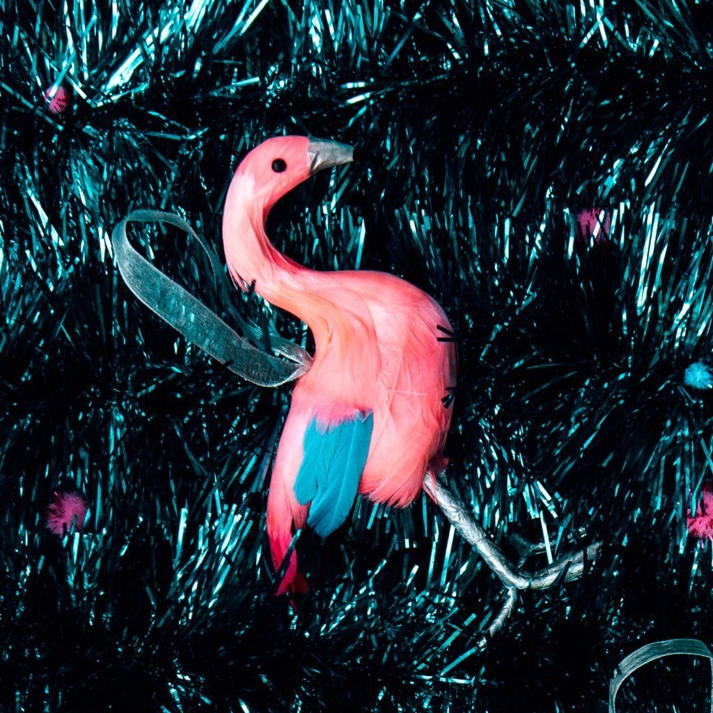 Down to the Woods | Flamingo Decoration Coral Blue | Shut the Front Door