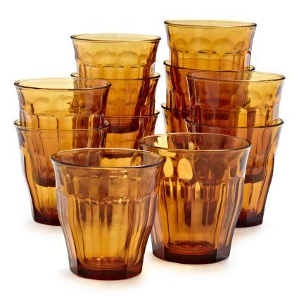 Picardie | Duralex Picardie Glass Tumbler Amber 250ml | Shut the Front Door