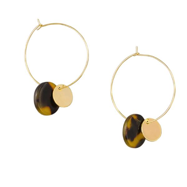 Tiger Tree | Earrings Tortoise Shell Disc & Hoop | Shut the Front Door