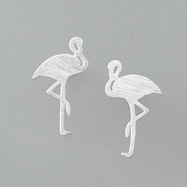 Tiger Tree | Earrings Silver Flamingo Studs | Shut the Front Door