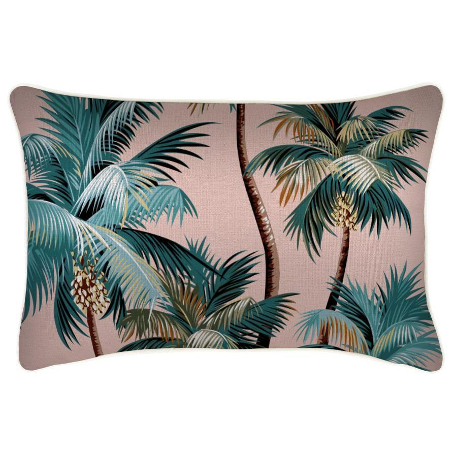 Escape to Paradise | Outdoor Cushion Palm Trees Sunset 35x50cm | Shut the Front Door