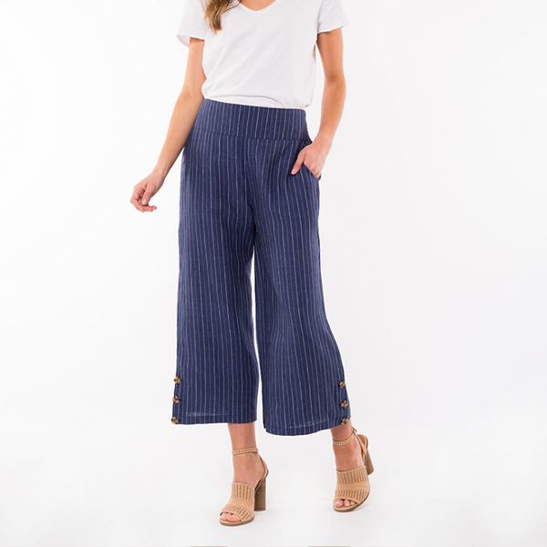 Picnic Stripe Pant - Navy/White