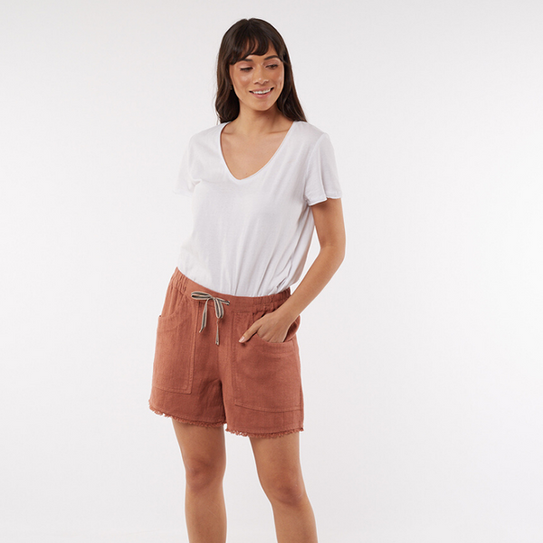 Elm Knitwear | Woodlands Shorts - Terracotta | Shut the Front Door