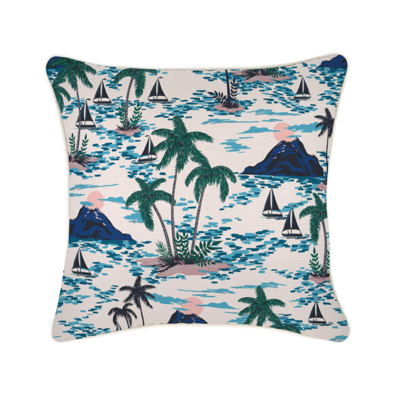 Escape to Paradise | Vacation Outdoor Cushion - 45x45cm | Shut the Front Door