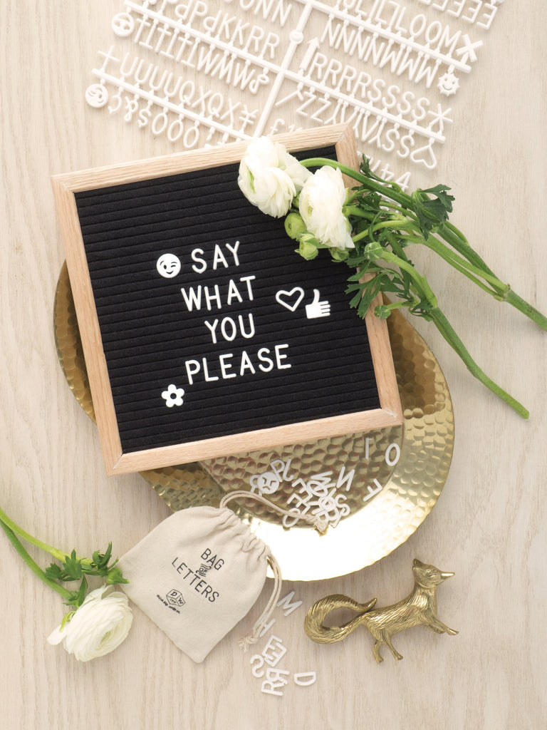 Designworks | Framed Felt Letter Board | Shut the Front Door