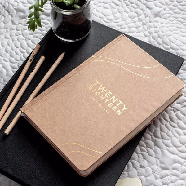 Frank | 2018 Diary Weekly Planner KRAFT | Shut the Front Door