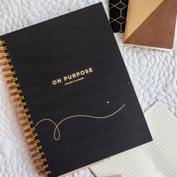 Frank | On Purpose Project Planner BLACK | Shut the Front Door