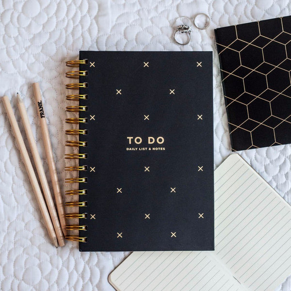 Frank | To Do Daily List & Notes BLACK | Shut the Front Door