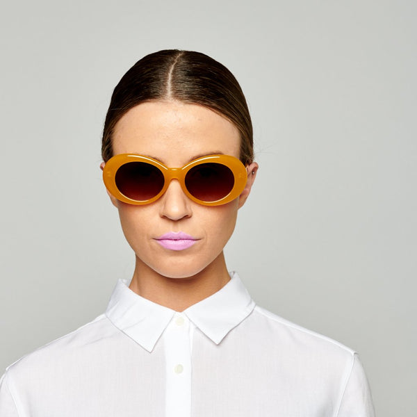 Reality Eyewear | Sunglasses - Festival of Summer - Mustard | Shut the Front Door