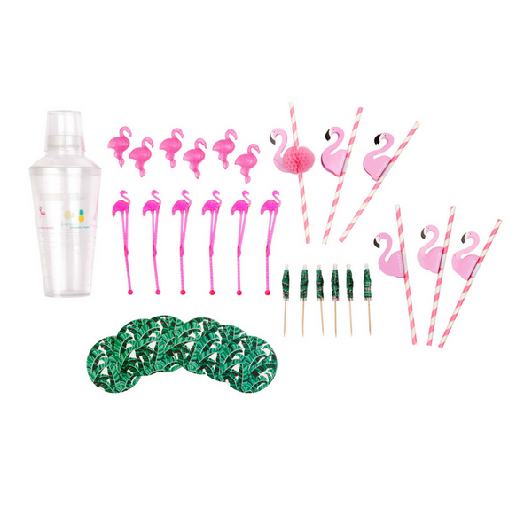 Sunnylife | Tropical Flamingo Cocktail Party Kit | Shut the Front Door