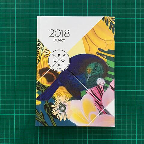 Flox | 2018 Flox Diary A5 Hardback | Shut the Front Door