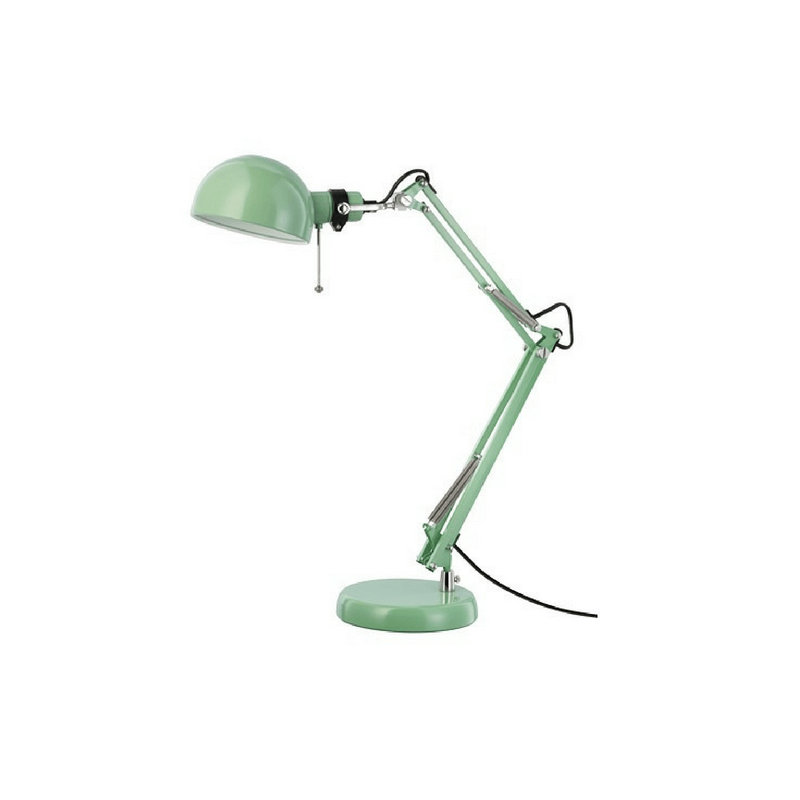 IKEA | Forsa Work Lamp - Green | Shut the Front Door