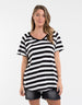 Foxwood | Teva Tee - Black & White Stripe | Shut the Front Door