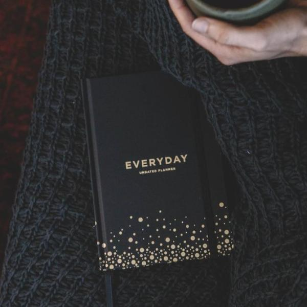 Frank | Everyday Undated Planner - Black | Shut the Front Door