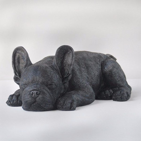 White Moose | Sleeping Frenchie BLACK | Shut the Front Door