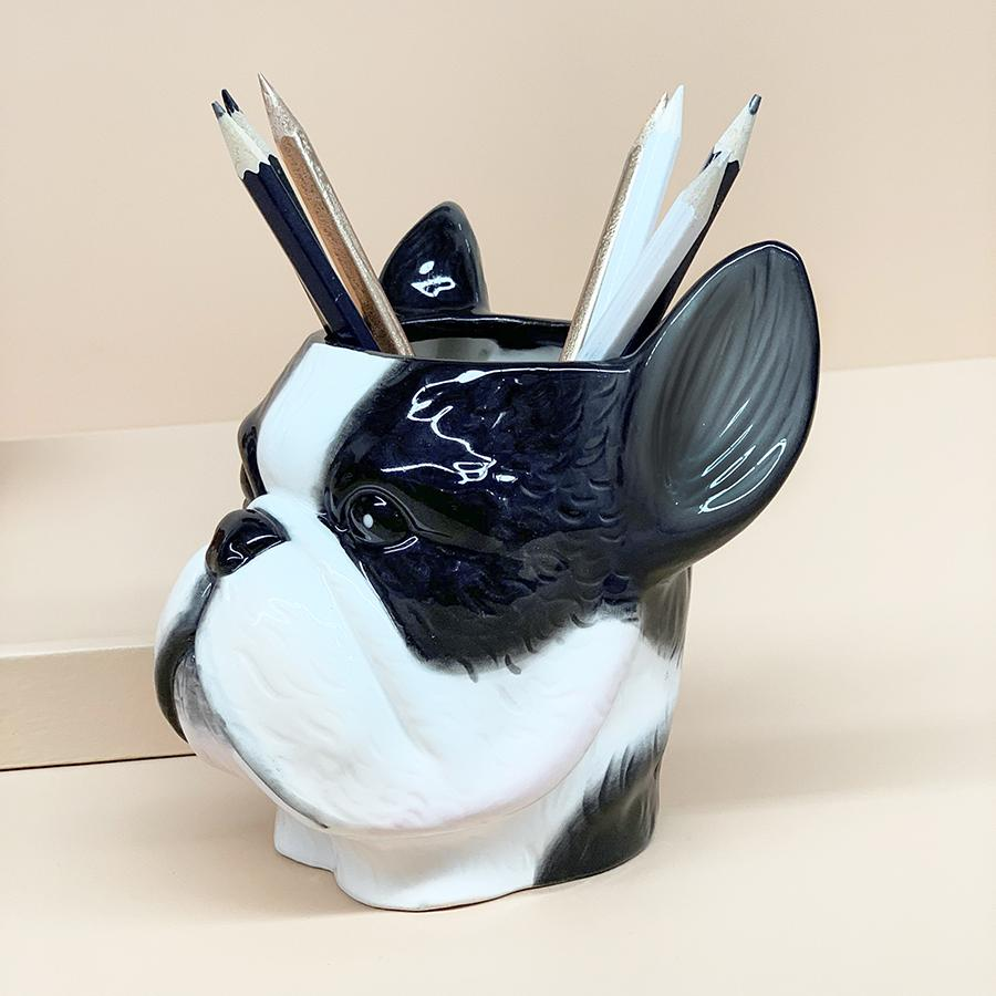 White Moose | Ceramic Planter - Frenchie | Shut the Front Door