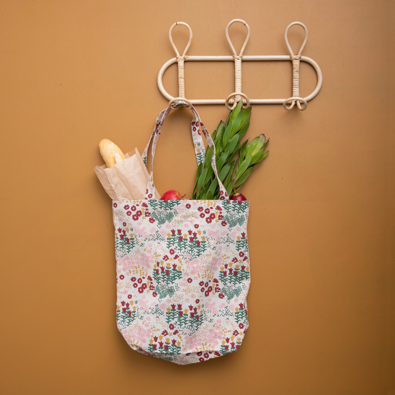 Save Planet A | Cotton Shopping Bag - Floral | Shut the Front Door