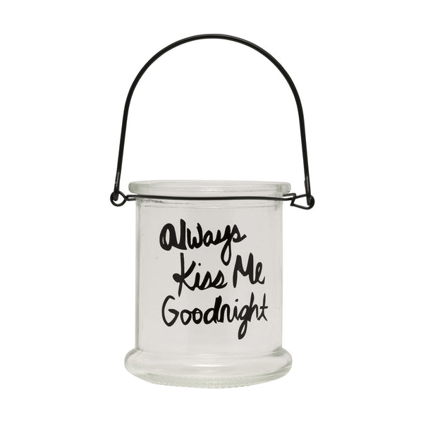 General Eclectic | Tea Light Holder Kiss Goodnight | Shut the Front Door
