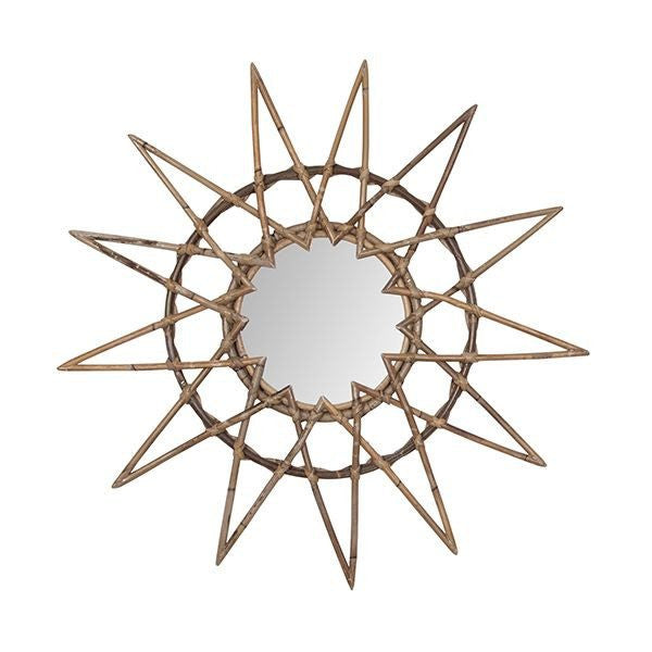 General Eclectic | Rattan Mirror STAR | Shut the Front Door