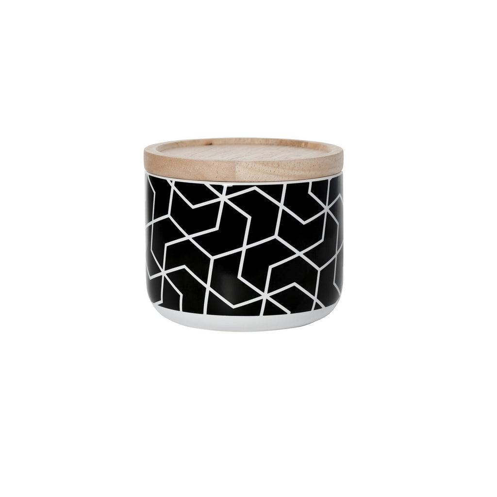 General Eclectic | Canister Small Spiral Hex Black | Shut the Front Door