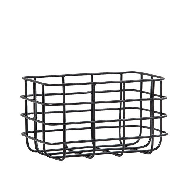 General Eclectic | Minimal Basket Black Small | Shut the Front Door