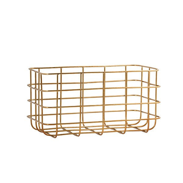General Eclectic | Minimal Basket Brass Large | Shut the Front Door