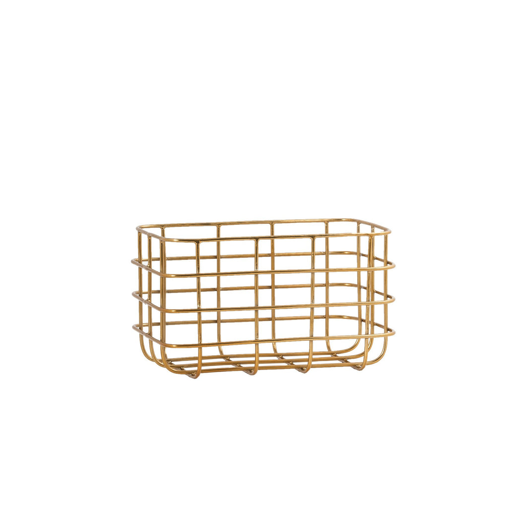 General Eclectic | Minimal Basket Brass Small | Shut the Front Door