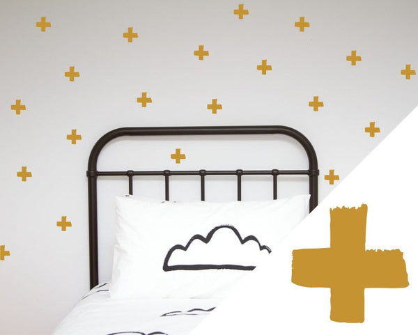General Eclectic | Wall Stickers Brush Cross Gold | Shut the Front Door