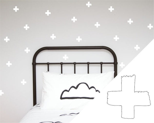 General Eclectic | Wall Stickers Brush Cross White | Shut the Front Door