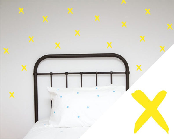 General Eclectic | Wall Stickers Brush X's Yellow | Shut the Front Door