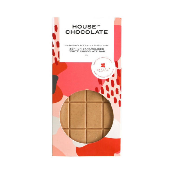 House of Chocolate | Gingerbread & Vanilla Bean Chocolate Bar | Shut the Front Door