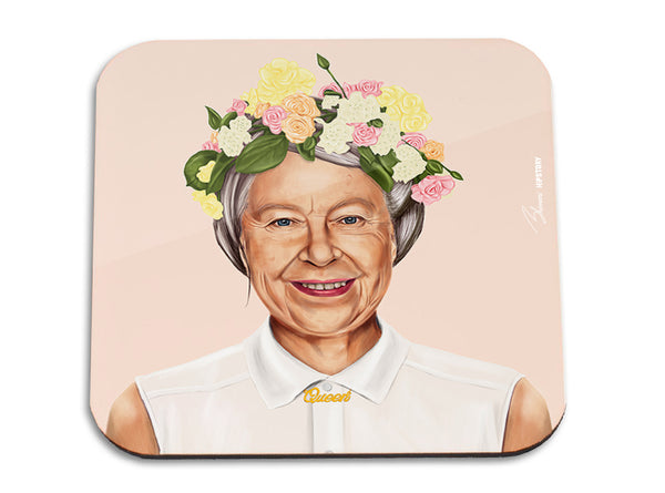 Hipstory | Hipstory Coaster - Queen Elizabeth | Shut the Front Door