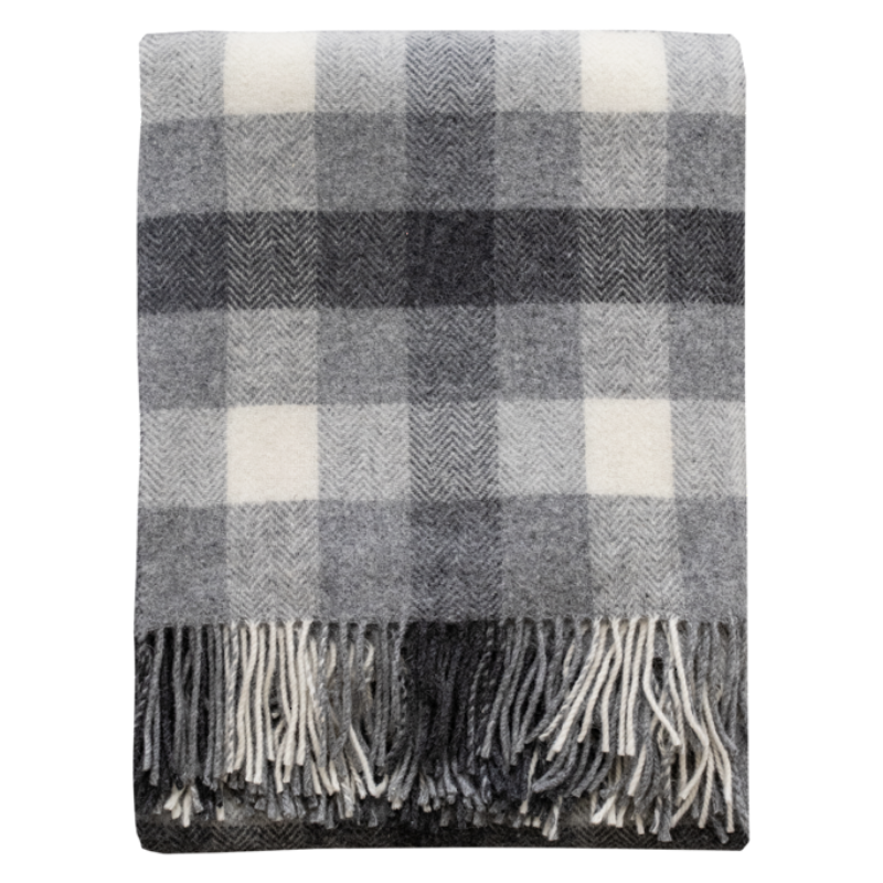 Mulberi | Harrison Plaid Wool Throw | Shut the Front Door