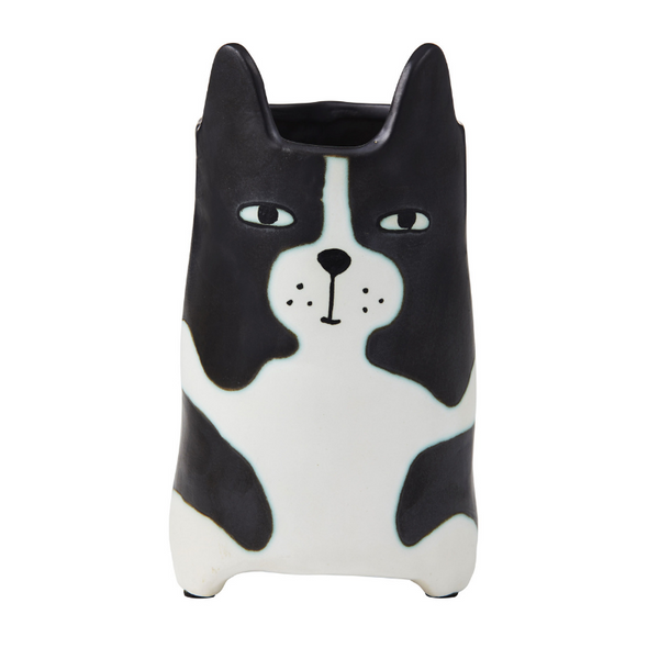 Emporium | Huxley Cat Pot - Black & White | Shut the Front Door