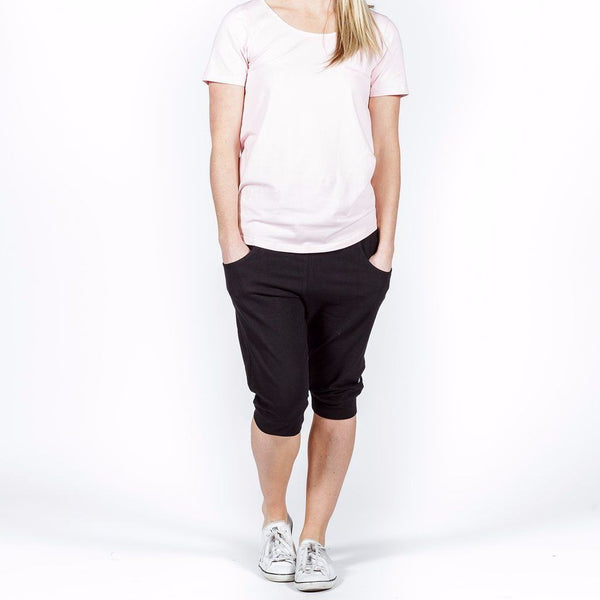 Home-lee | 3/4 Apartment Pants Black with White X | Shut the Front Door