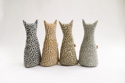Raine & Humble | Animal Print Door Stopper - Khaki | Shut the Front Door