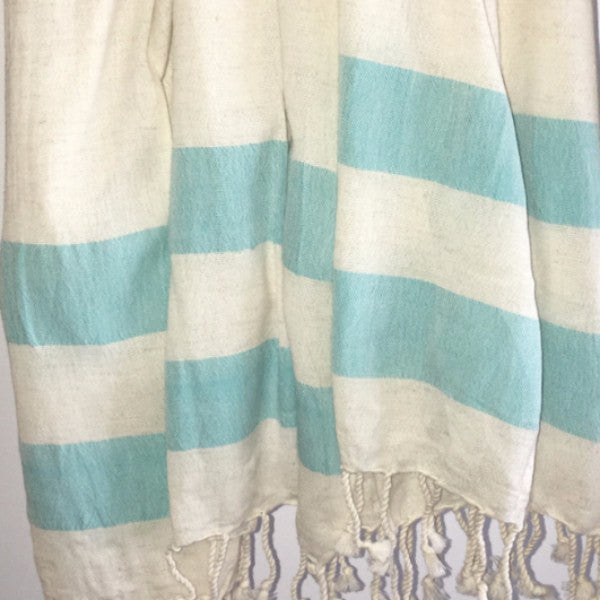 Shut The Front Door | Genuine Turkish Towel - Linen - Turquoise | Shut the Front Door