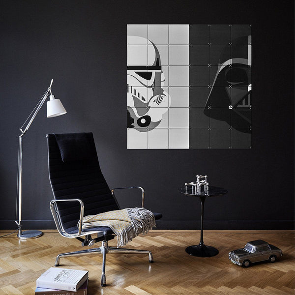 Ixxi | IXXI Artwork Star Wars Stormtrooper / Darth Vader 80x80cm | Shut the Front Door